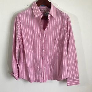 NWT J. McLaughlin Whitney Oxford Relaxed Blouse 14